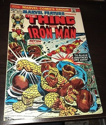 Marvel Feature Presents THE THING And IRON MAN #12 Early KEY Thanos SHIPS FREE!