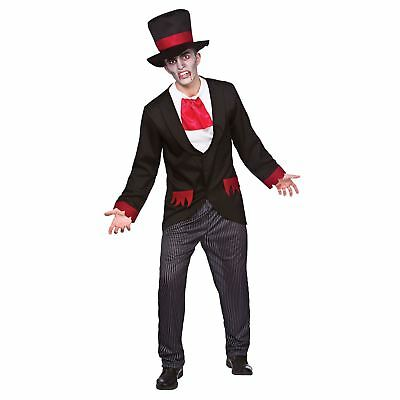 Adults Mens Victorian Vampire Fancy Dress Up Party Halloween Costume Outfit New