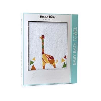 Baby Bath Towel by Bubba Blue Premium Collection Cotton Giraffica Giraffe New
