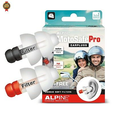 Alpine MotoSafe Pro - Motorcycle Earplugs, Alpine Hearing Protection NEW