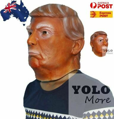 Latex Donald Trump Costume Mask USA President POTUS Halloween Party AUS STOCK