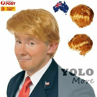 DONALD TRUMP Costume Wig Hair USA President POTUS Halloween Fancy Dress Party