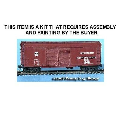 Pennsy 40' Boxcar X-31 Double-Door Round Top Roof Kit - N Scale: Fns #fnr-2008