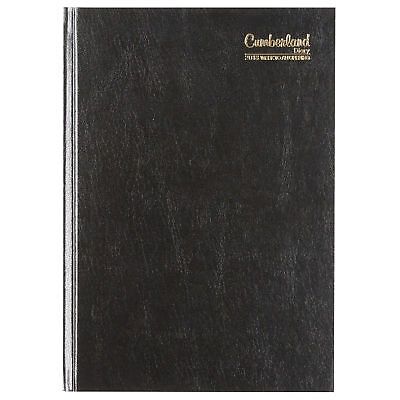 2018 Diary Cumberland Casebound A5 Week to View Black (57ECBK) Free Post