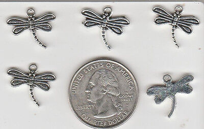 You Get 50 Silver Tone Metal  Dragon Flies  Bug Charms. From U.s. Seller.  - T 2