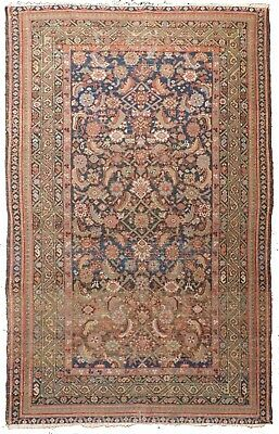 "Antique Persian Farahan rug. 4'1""x 6'5"""
