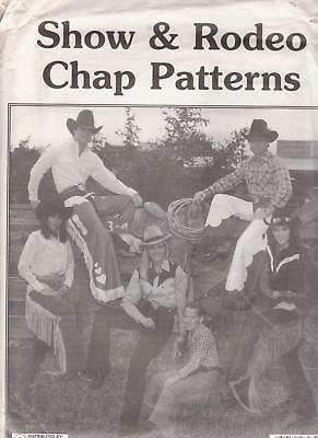 Tandy Show & Rodeo Chap Patterns Make Leather Chaps Kids & Adults Sizes Batwing