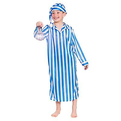Boys Wee Willie Winkie Blue Fancy Dress Up Party Costume Halloween Child Outfit