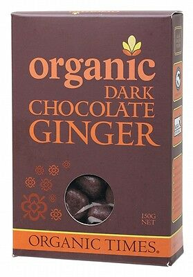 ORGANIC TIMES Organic Dark Chocolate Ginger 150g