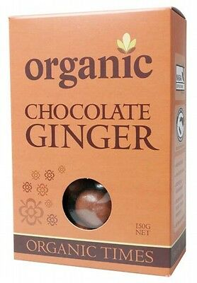 ORGANIC TIMES Organic Milk Chocolate Ginger 150g