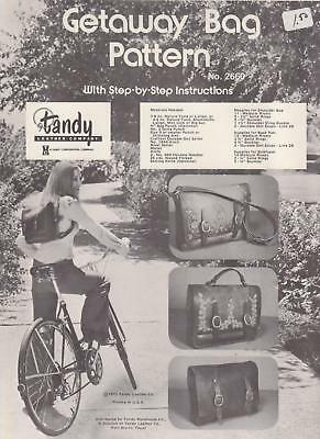 """Getaway Bag"" Handbag Pattern Leather making & tooling instructions Tandy #2660"