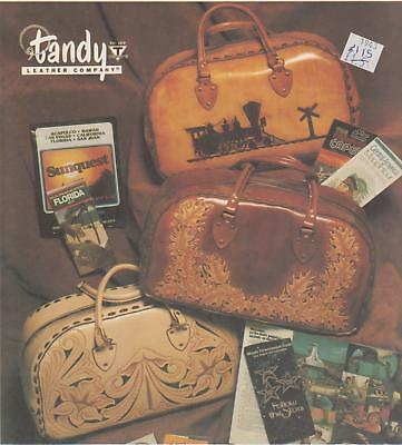 "Overnight ""Travel Bag"" Pattern Leather making & tooling instructions Tandy #1943"