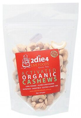 2DIE4 LIVE FOODS Activated Organic Cashews - 120g