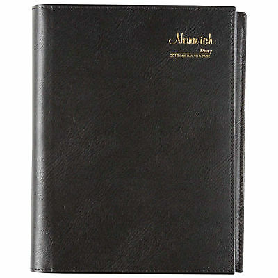 2018 Diary Cumberland Norwich Spiral A5 Day to Page Black (51S) Free Post