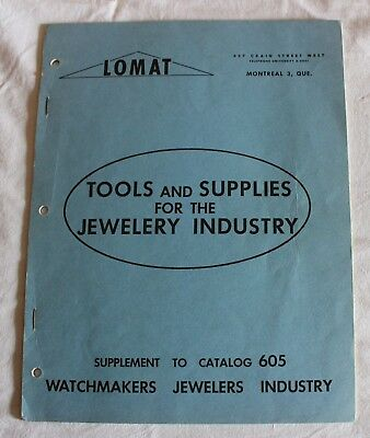 Lomat Supplement to Catalog 605