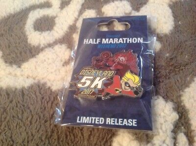 Disneyland 5k Incredibles Pixar race pin 2017