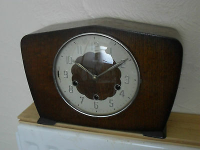 Art Deco  Mantel Clock with Westminster chime