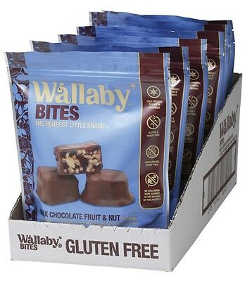 3 X WALLABY BITES Milk Chocolate Fruit & Nut Snacks 6 x 150g
