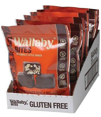 3 X WALLABY BITES Dark Chocolate Fruit & Nut Snacks 6 x 150g