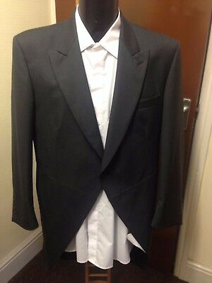 Mens Grey Tailcoat, 100% Wool, Varies Sizes Available, Wedding, Suit Etc