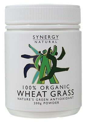 3 X SYNERGY ORGANIC Wheatgrass Powder 200g - IN STOCK - SHIPS NOW!