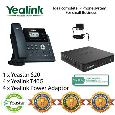 Idea complete IP Phone System for Small Business - Yealink T40G and Yeastar S20