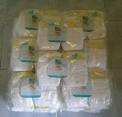 200 x Pampers Premium Protection Nappies New Baby size 1 (4-11lbs)