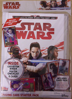 Star Wars ~ Journey To The Last Jedi ~ Topps Trading Card Game Starter Pack