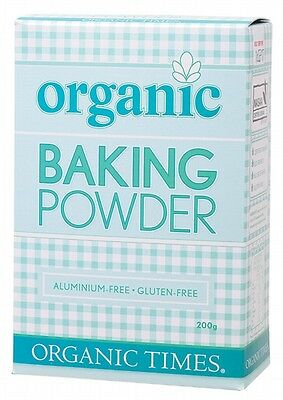 3 X ORGANIC TIMES Baking Powder - 200g