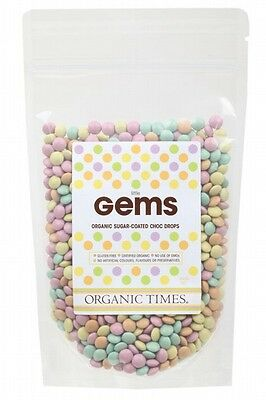 3 X ORGANIC TIMES Chocolate (Organic) Little Gems 500g