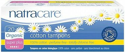 3 X NATRACARE Super Plus Tampons (Non-Applicator) 20 pack