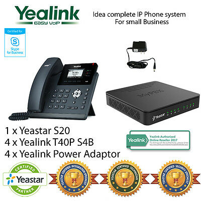 Idea complete IP Phone System Skype for Business - Yealink T40P and Yeastar S20