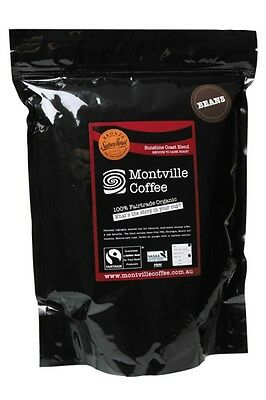 3 X MONTVILLE COFFEE Sunshine Coast Blend Coffee Beans 1kg