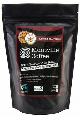 3 X MONTVILLE COFFEE Sunshine Coast Blend Coffee Beans 250g