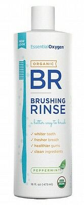 3 X ESSENTIAL OXYGEN Peppermint Brushing Rinse - 473ml