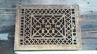 """ANTIQUE 13 1/2 """" Vent Grate or Radiator Grate, Cast Iron Architectural Salvage"""