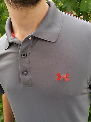 Under Armour's Men's Heatgear Performance Loose  Polo t shirt size L 1000490