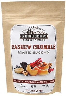 3 X EAST BALI CASHEWS Roasted Snack Mix Cashew Crumble 55g