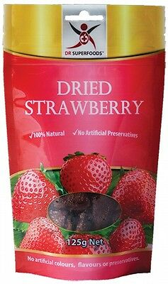 3 X DR SUPERFOODS Dried Strawberry 125g