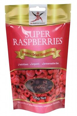 3 X DR SUPERFOODS Super Rasberries 125g - Includes Dried Raspberries
