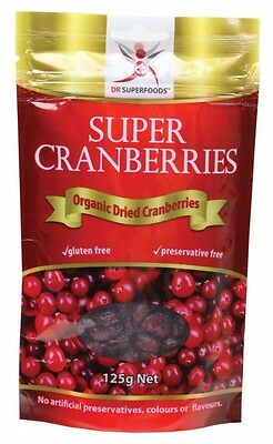 3 X DR SUPERFOODS Super Cranberries 125g