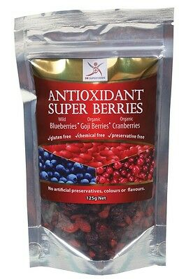 3 X DR SUPERFOODS Antioxidant Super Berries Blueberries Goji Berries Cranberries