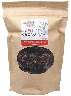 3 X 2DIE4 LIVE FOODS Ow Cacao - 200g
