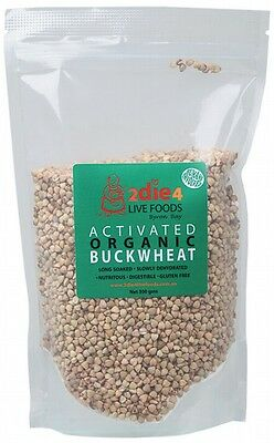 3 X 2DIE4 LIVE FOODS Activated Organic Buckwheat - 300g