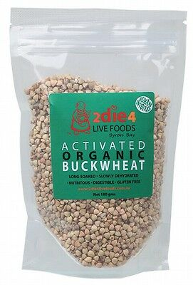 3 X 2DIE4 LIVE FOODS Activated Organic Buckwheat - 180g