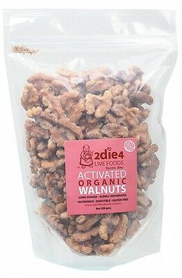 3 X 2DIE4 LIVE FOODS Activated Organic Walnuts 300g