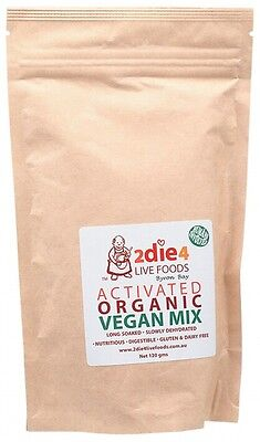3 X 2DIE4 LIVE FOODS Activated Organic Vegan Mix - 120g