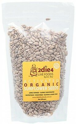 3 X 2DIE4 LIVE FOODS Activated Organic Sunflower Seeds - 200g