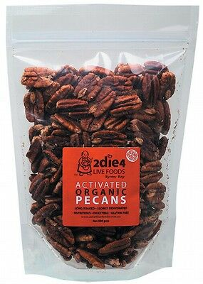 3 X 2DIE4 LIVE FOODS Activated Organic Pecans - 300g