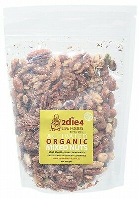 3 X 2DIE4 LIVE FOODS Activated Organic Mixed Nuts - 300g